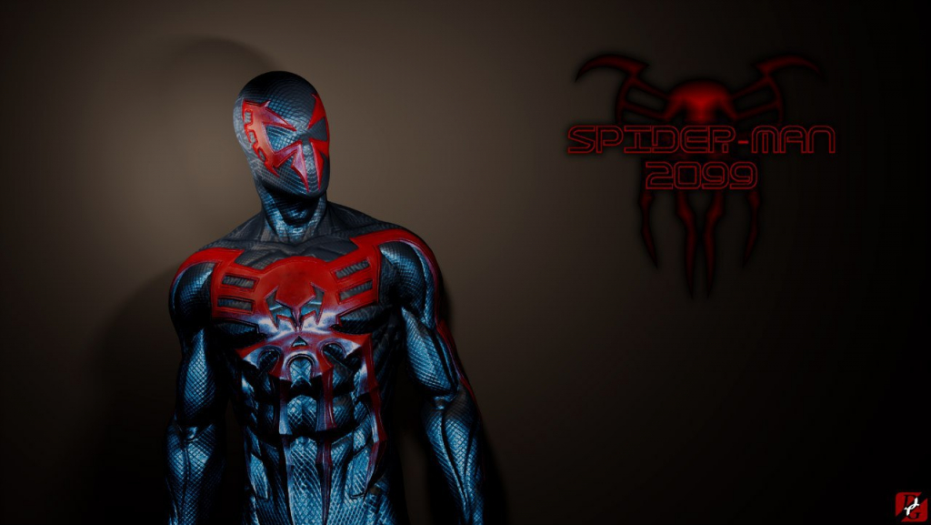 spider man 2099 render