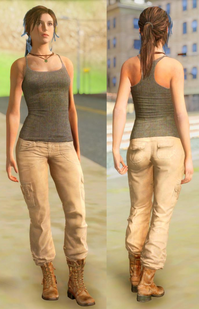 Lara Croft rottr gta 4
