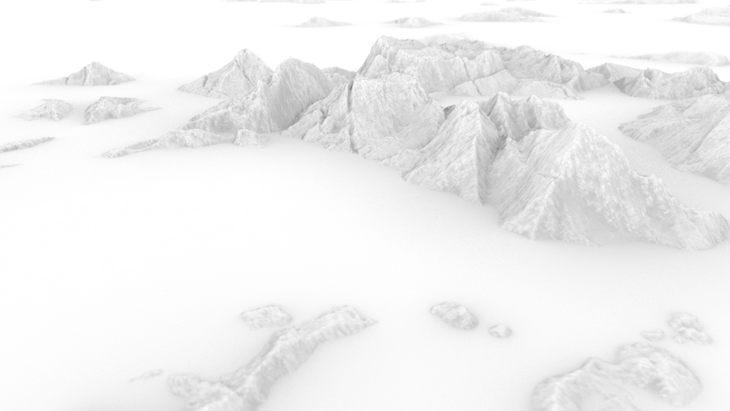 The mountains render 4