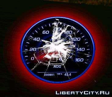 Neon speedometer GTA SA 1