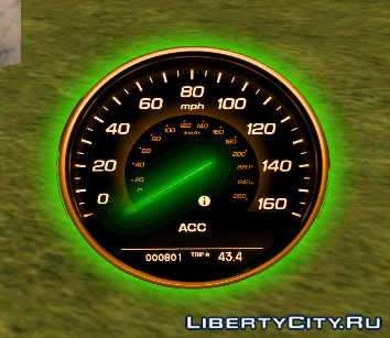 Neon speedometer GTA SA 2