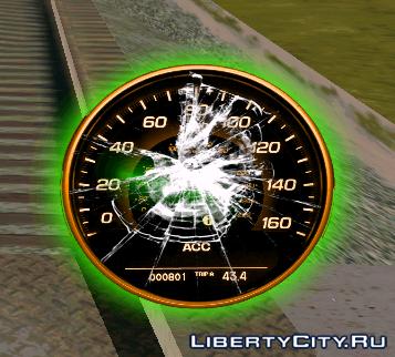 Neon speedometer GTA SA 3