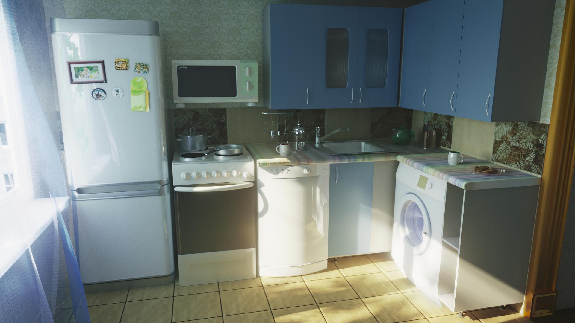Кухня рендер corona render 0