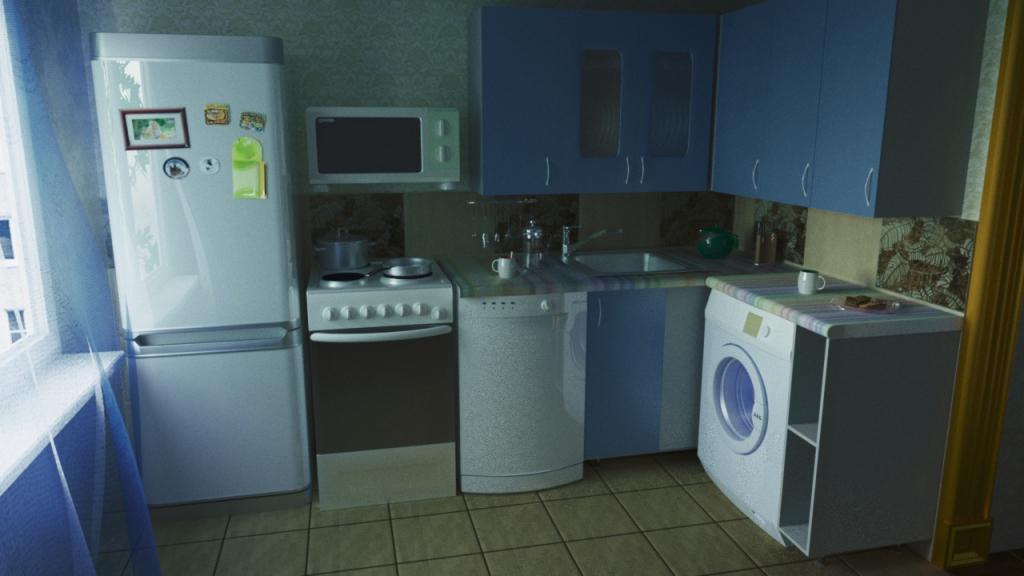 Кухня рендер corona render 1
