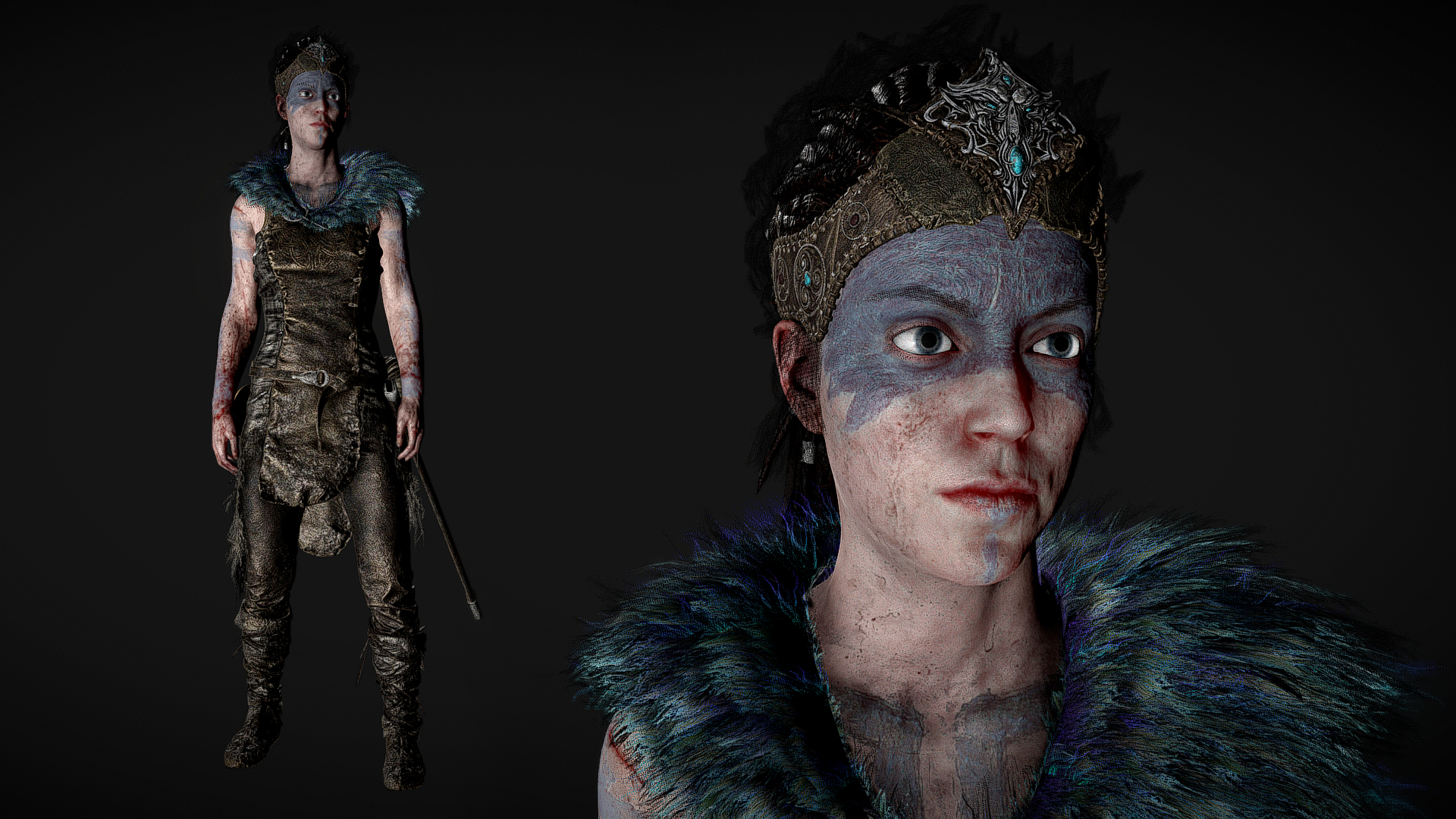 Senua from Hellblade: Senua's Sacrifice