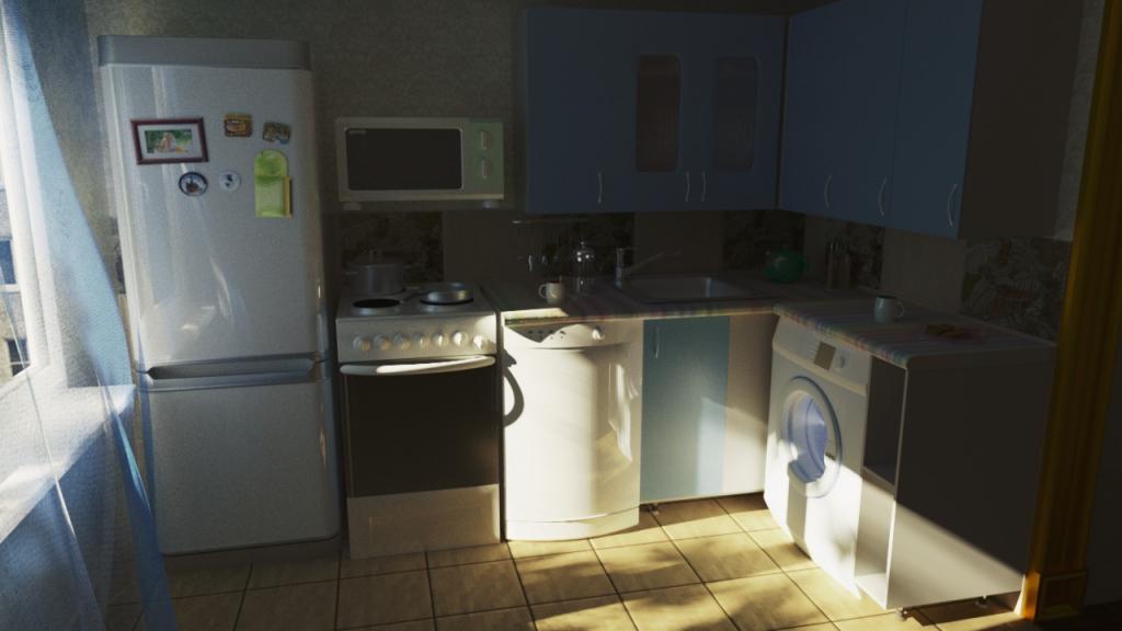 Кухня рендер corona render 2
