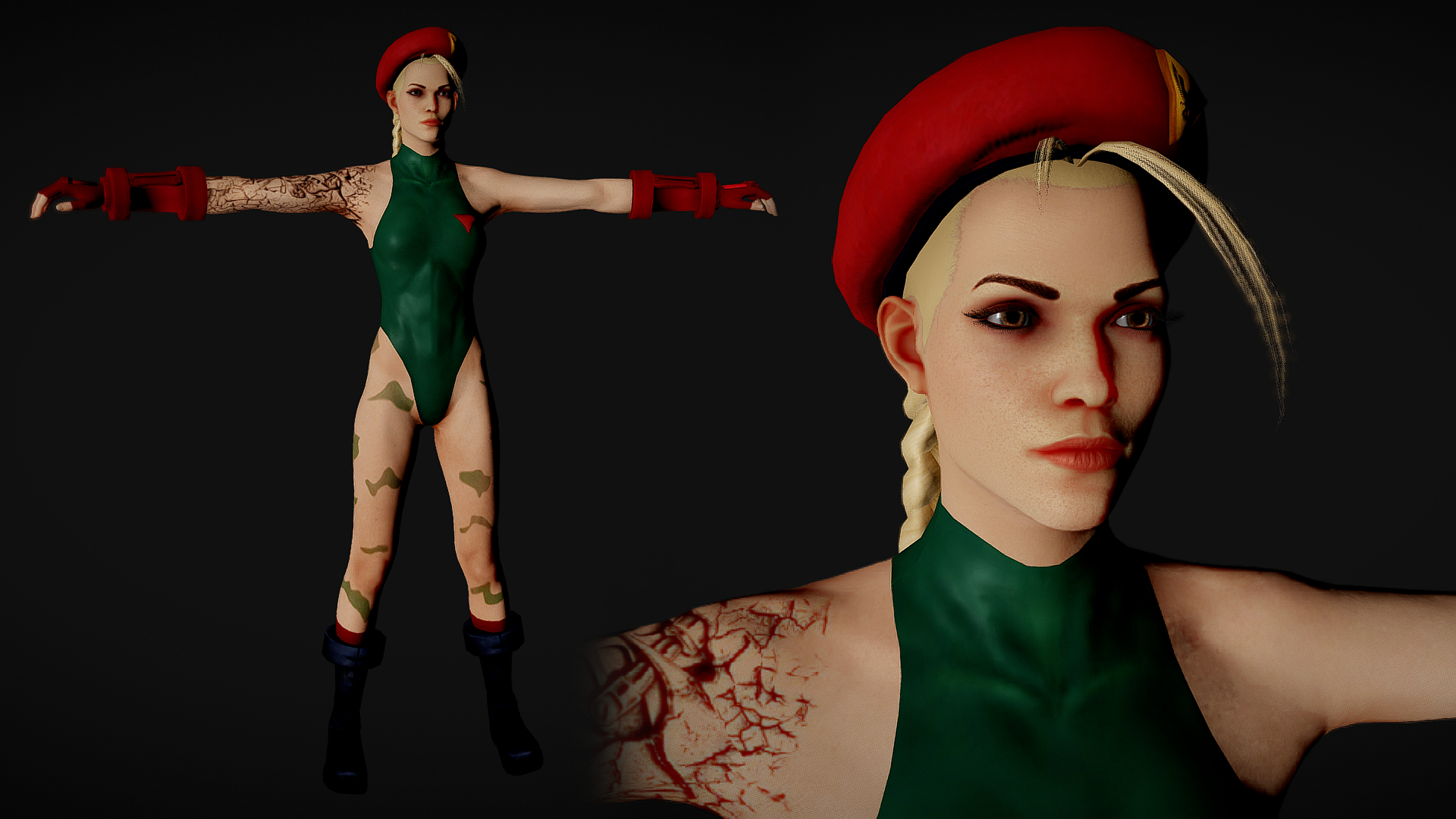 Shelly bombshel street fighter cammy 0