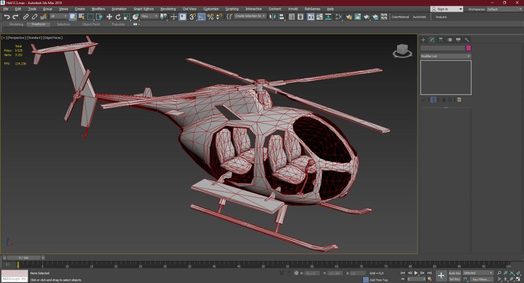 Helicopter corona render 1