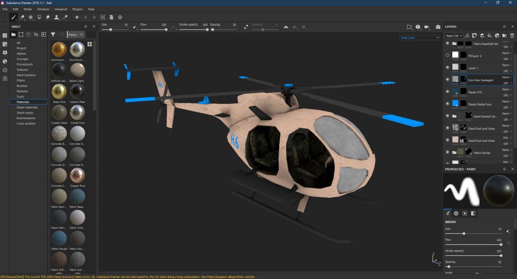 Helicopter corona render 2