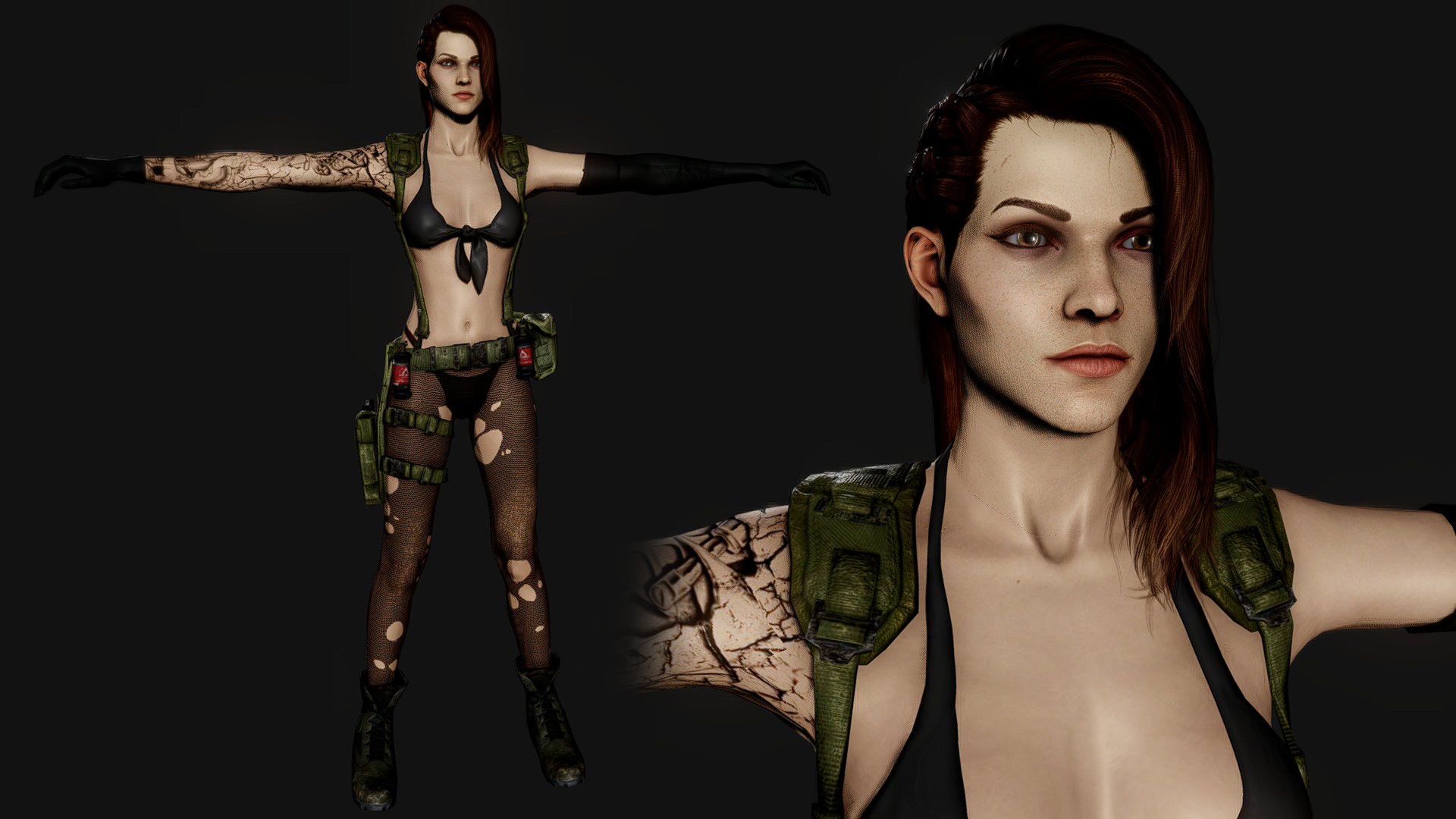 Shelly bombshel metal gear solid 5 quiet 0