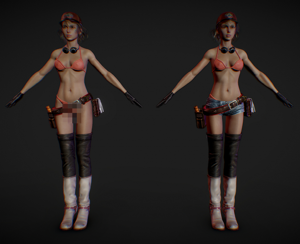 Cindy Aurum 3d model screen 2