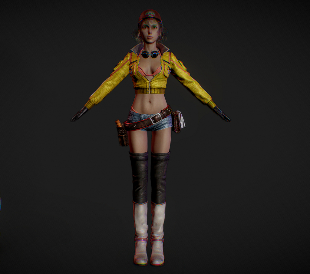 Cindy Aurum 3d model screen 1