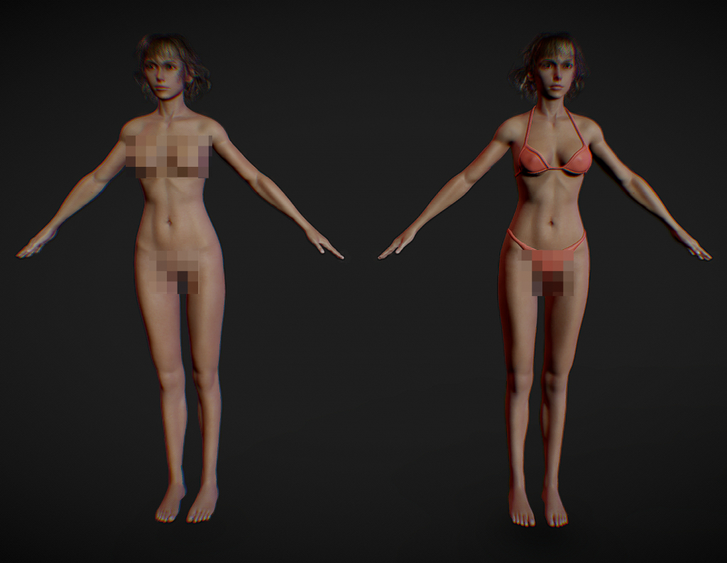 Cindy Aurum 3d model screen 3