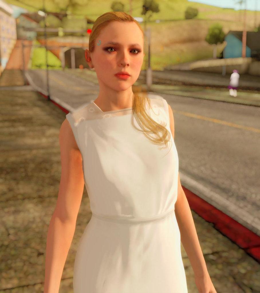 Chloe Detroit: Become Human GTA SA screen 2
