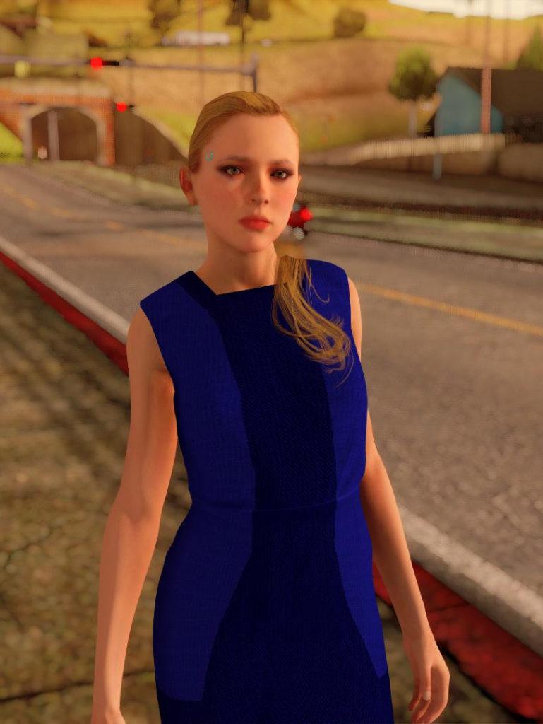 Chloe Detroit: Become Human GTA SA screen 1