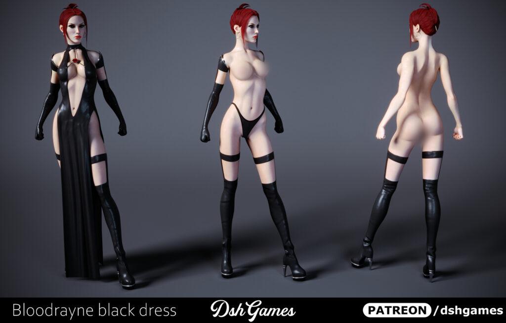 Bloodrayne black dress full height