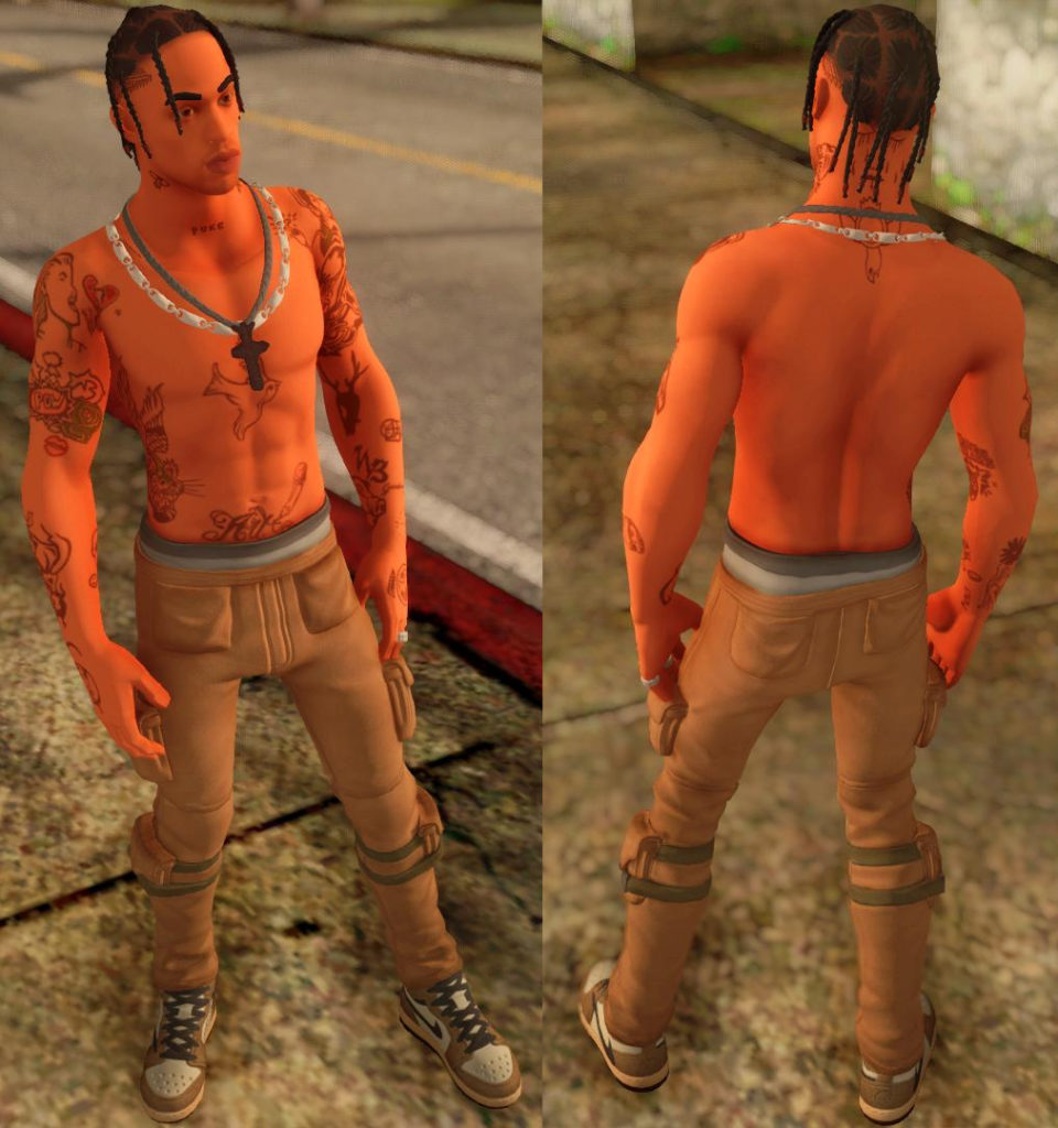 Travis Scott GTA SA screen 1