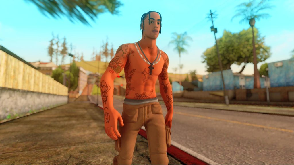 Travis Scott GTA SA screen 2