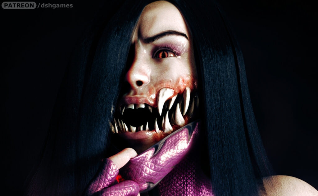 Mileena mouth