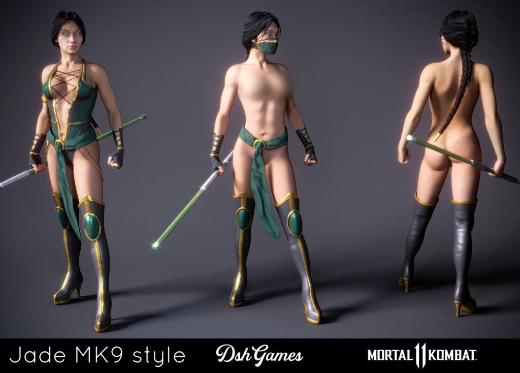 Jade mortal kombat full height