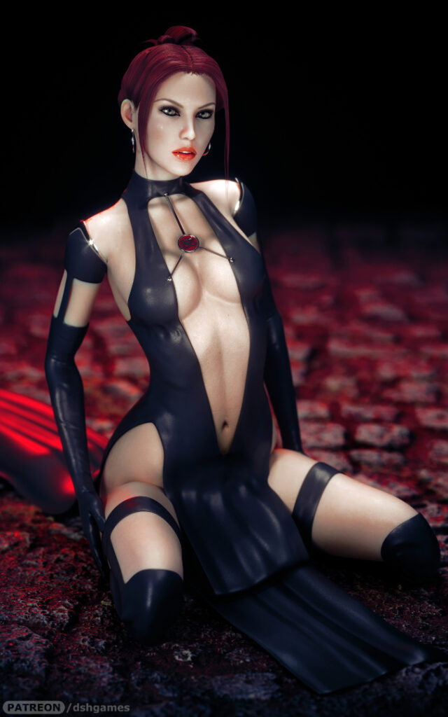 bloodrayne black dress